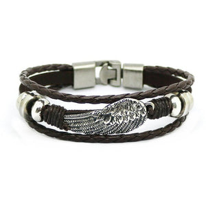 intage Scorpion Bracelet With Multilayer Leather