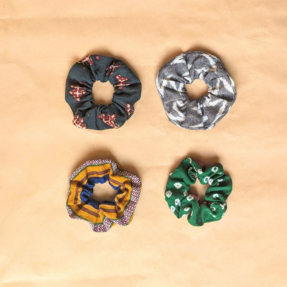 Binuni Scrunchy Set of 4 - Combo 1