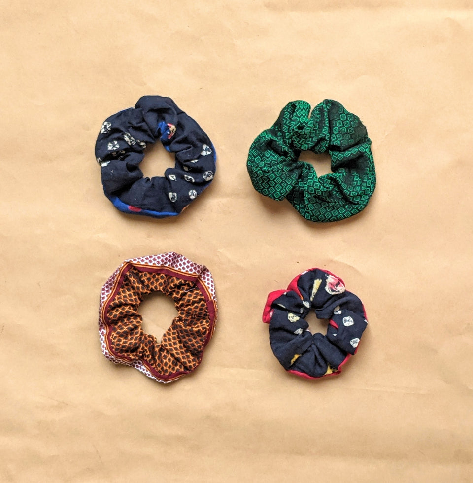 Binuni Scrunchy Set of 4 - Combo 8