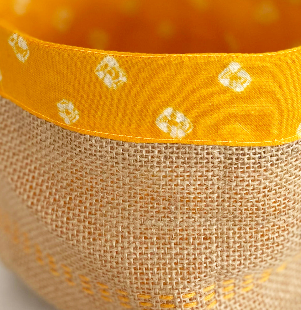 Yellow bandhani holder