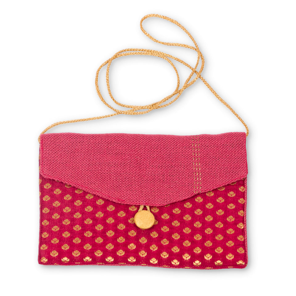 Jeb Clutch - Maroon and Red