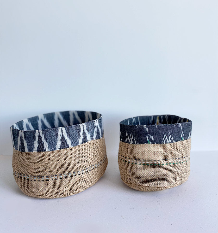 Grey ikat holder