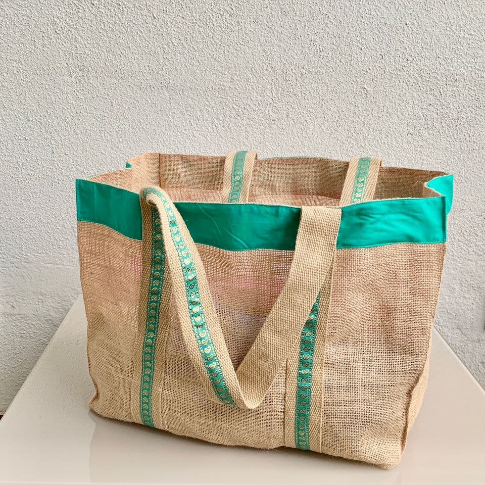 Bajar Tote - Turquoise-SeaGreen