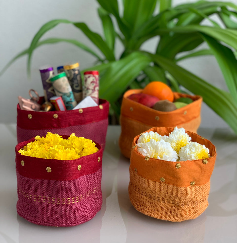 Dala Containers, Set of 3 - Multi Color