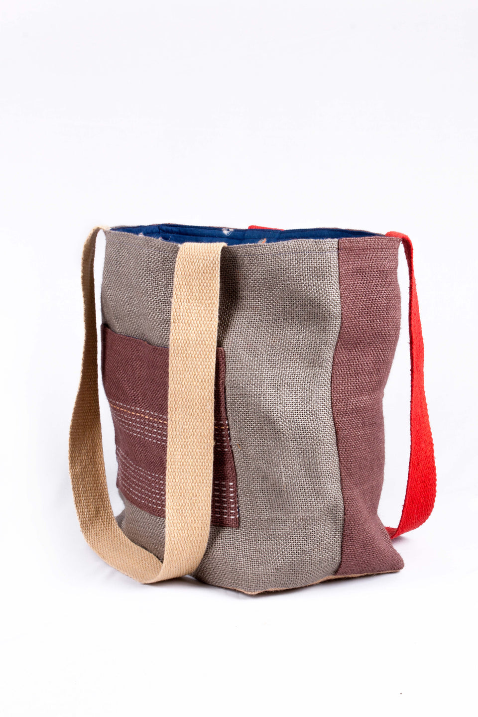 Reversible Tote in Grey and Brown
