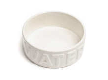 Load image into Gallery viewer, Classic White Pet Bowl: Water