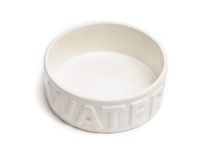 Classic White Pet Bowl: Water