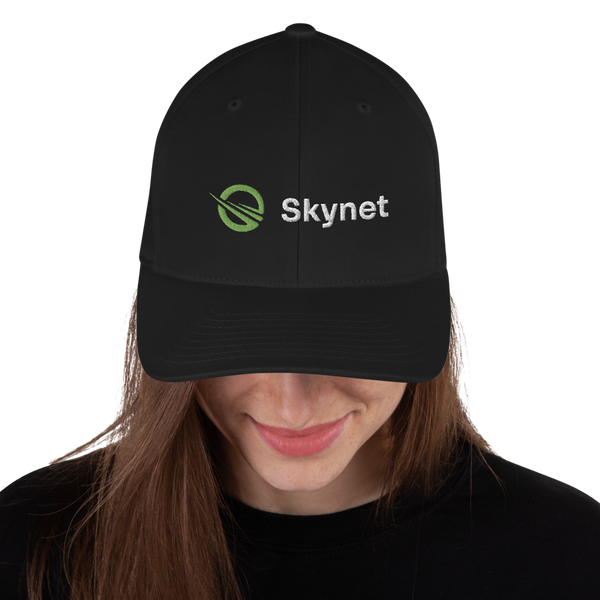 Black Skynet Structured Twill Cap