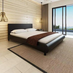 vidaXL Bed 160 x 200 cm Artificial leather Black