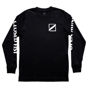 OPEN MIND CLOSED FIST LONG SLEEVE TEE (BLACK)