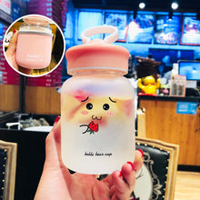 Load image into Gallery viewer, Kawaii Baby Bear Glass Portable Water Bottle Tea Stainer Cup - Best Kawaii Shop