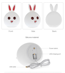 Cute Bunny USB LED Night Lamp - Kawaii Rabbit - Best Kawaii Shop
