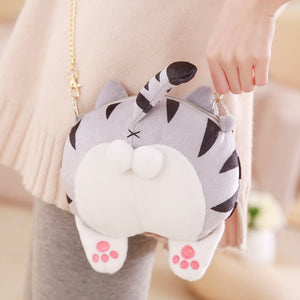 Chi Kawaii Plushy Cat Ass Crossbody Bag - Best Kawaii Shop