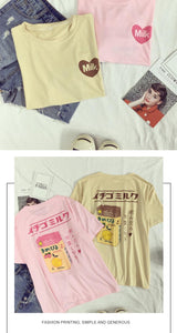 The Best Harajuku T-Shirt You Can Get - Peach Milk - Chocolate Milk - Best Kawaii Shop
