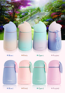 Cute Kawaii Pastel Color Cat Neko Water Bottle - Best Kawaii Shop