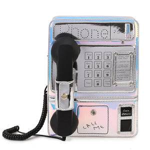 Harajuku Old Phone Laser Gradient Color Kawaii Lolita Shoulder Bag - Best Kawaii Shop