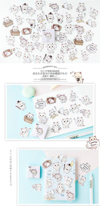 Cute Koneko Meng Cats Stickers Stationery - Best Kawaii Shop