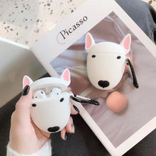 Load image into Gallery viewer, Kawaii Bull Terrier Silicone AirPods Case Earphone Protector - Best Kawaii Shop