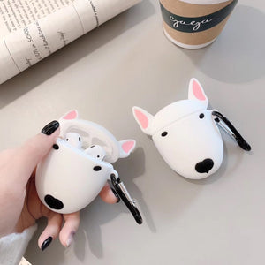 Kawaii Bull Terrier Silicone AirPods Case Earphone Protector - Best Kawaii Shop