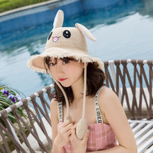 Load image into Gallery viewer, Kawaii Fisherman Bunny Ears Cap with Movable Rabbit Ears - Best Kawaii Shop