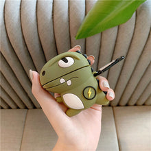 Load image into Gallery viewer, Cute Silicone Khaki Dinosaur Earphone AirPods Case - Best Kawaii Shop