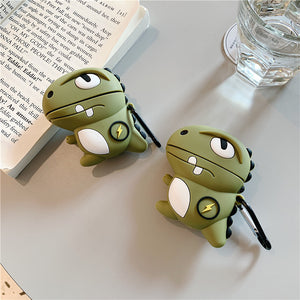 Cute Silicone Khaki Dinosaur Earphone AirPods Case - Best Kawaii Shop