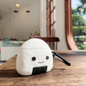 Kawaii Japanese Sushi Rice Ball Salmon Maki AirPods Case (AirPods 1,2 & AirPods Pro) - Best Kawaii Shop