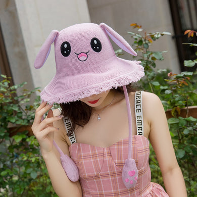 Kawaii Fisherman Bunny Ears Cap with Movable Rabbit Ears - Best Kawaii Shop