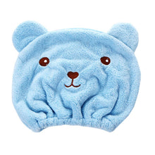 Load image into Gallery viewer, Cute Bear Shower Cap - The Loveliest Microfiber Hair Turban - Best Kawaii Shop
