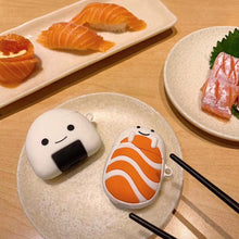 Load image into Gallery viewer, Kawaii Japanese Sushi Rice Ball Salmon Maki AirPods Case (AirPods 1,2 & AirPods Pro) - Best Kawaii Shop