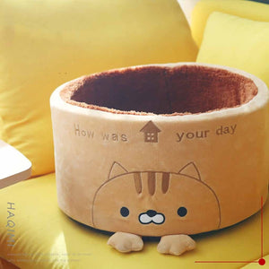 Cute Kawaii Comfy Nest Kitten Basket - Best Kawaii Shop