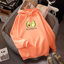 Load image into Gallery viewer, Avocado Print Kawaii Hoodie Oversized Long Sleeve Kpop Sweatshirt - Best Kawaii Shop