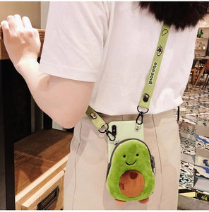 Avocado and Dinosaur Plush Coin Purse and Phone Case - Best Kawaii Shop