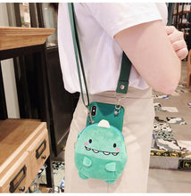 Load image into Gallery viewer, Avocado and Dinosaur Plush Coin Purse and Phone Case - Best Kawaii Shop