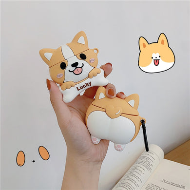 Kawaii Corgi Earphone Case for AirPods 1,2 and AirPods Pro - Best Kawaii Shop
