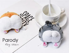 Load image into Gallery viewer, Kawaii Plush Corgi & Cat Butt Keychain - Best Kawaii Shop
