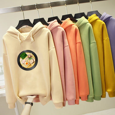 Kawaii Noodle Food Hoodie Harajuku Fashion Oversized Sweatshirt - Best Kawaii Shop