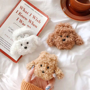 Kawaii Plush Poodle Doge AirPods Case Protector - Best Kawaii Shop