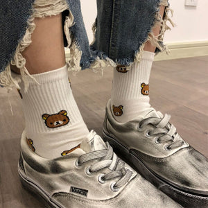 Kawaii Bear Cotton Socks - Best Kawaii Shop