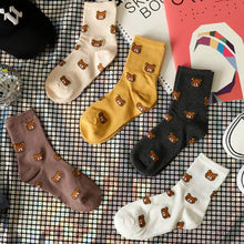 Load image into Gallery viewer, Kawaii Bear Cotton Socks - Best Kawaii Shop
