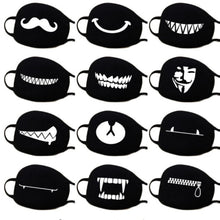 Load image into Gallery viewer, Kawaii Ant-dust Mask Kpop Mask Medical Mask Black Cotton Mask Anti-Pollution Masque - Best Kawaii Shop
