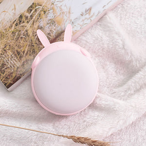 2 in 1 Cute Round Fat Bunny External Battery and Hand Warmer - Best Kawaii Shop