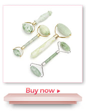 Load image into Gallery viewer, Natural Rose Quartz Jade Roller Facial Massager Jade Roller Wrinkle Removal - Best Kawaii Shop