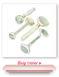 Natural Rose Quartz Jade Roller Facial Massager Jade Roller Wrinkle Removal - Best Kawaii Shop