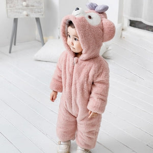 Kawaii Baby Romper Cute Bear/ Rabbit Jumpsuit Plush Toddler Clothes - Best Kawaii Shop