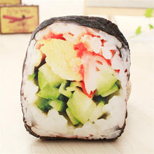 Load image into Gallery viewer, Real Looking Asian Food Pillows Sushi/ Salmon/ Nori / Pork Ribs / Egg tart Stuffed Food Plush Cushions - Best Kawaii Shop