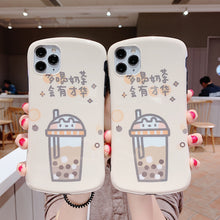 Load image into Gallery viewer, Cute Bubble Tea Soft Silicone Phone Case and Kawaii Boba Tea Phone Holder Suction Cup Pop Socket - Best Kawaii Shop