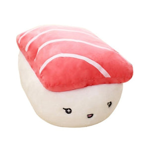 Salmon Sushi and Rice Ball Sushi Pillow Stuffed Plush Cushion - Best Kawaii Shop