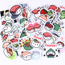 Load image into Gallery viewer, 40  Kawaii Japanese Sushi Stickers for Scrapbooking and DIY Crafting - Best Kawaii Shop