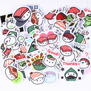 40  Kawaii Japanese Sushi Stickers for Scrapbooking and DIY Crafting - Best Kawaii Shop